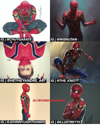 I'm loving all this art of the new Spider-Man suit. Of course there's more amazing art, but I could only fit six into the image. Which is your favorite artwork? ⬇️Comment Below⬇️: IG   @CHUYGARATE  IG   @WISNUTAN  IG   @HEYHEYANDRE_ARTIG I @THE_KNOTT  IGI eCOMX  UNLIMITED  IGI @JOHNNYLIGHTHANDS  IG I @ILLUSTREYTS I'm loving all this art of the new Spider-Man suit. Of course there's more amazing art, but I could only fit six into the image. Which is your favorite artwork? ⬇️Comment Below⬇️