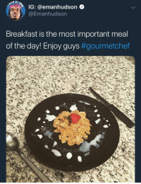 <p>Mane sprinkled milk 💀 (via /r/BlackPeopleTwitter)</p>: IG: @emanhudson  @Emanhudson  Breakfast is the most important meal  of the day! Enjoy guys <p>Mane sprinkled milk 💀 (via /r/BlackPeopleTwitter)</p>