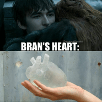 Bad, Memes, and Heart: IG/gaemofthrones  BRAN'S HEART: I too felt bad for Sansa in this scene but why y'all hating on Bran :- my man's seen like every problem in the history of ever so these little things probably don't mean anything to him atm, he asked for Jon not bc he missed him but only bc he wants him to know the truth. Its like he's seen the bigger picture so none of these little things matter to him anymore