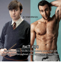 Use an emoji to describe this image! 🔥: IG |@Harty Pottersfact  FACT #170  ew Lewis (Neville Longbottom) wore a fat suit  bottom y  and fake teeth throughout most Of the Harry POotter films Use an emoji to describe this image! 🔥