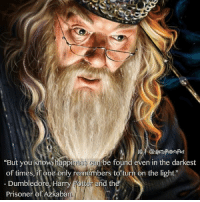 """What is your favorite Dumbledore scene from the HP films?: IG @Herty Potters Rd  """"But you know happi  n be found even in the darkest  Dumbledore, Harry  Potter and th  Prisoner of Azkaban. What is your favorite Dumbledore scene from the HP films?"""