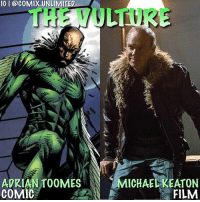 I thought Adrian Toomes-The Vulture was a great villain and Michael Keaton 100% did the character justice. (Also I respect what he did in that mid credit scene). Did you think he was a good villain? ⬇️Comment Below⬇️: IG I @coMIX.UNLIMITED  ADRIAN TOOMES  COMIC  MICHAELKEATON  FILM I thought Adrian Toomes-The Vulture was a great villain and Michael Keaton 100% did the character justice. (Also I respect what he did in that mid credit scene). Did you think he was a good villain? ⬇️Comment Below⬇️