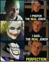 [Follow @theblerdvision] But the real question is... do you want to see @jaredleto's Joker as part of a LegionOfDoom? 🤔 - Aqualad AKA The Blerd: IG I THEBLERDVISION  @JUSTICE.LEAGUE.MEMES  I PREFER  THE REAL JOKER...  SAID  THE REAL JOKER  PERFECTION. [Follow @theblerdvision] But the real question is... do you want to see @jaredleto's Joker as part of a LegionOfDoom? 🤔 - Aqualad AKA The Blerd