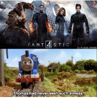 "I died laughing 😂😂 I haven't liked a single Fantastic Four movie so far, and I especially hated Fant4stic. Apparently there will be a new F4 movie that'll be ""kid friendly"" and focus on Franklin & Valeria Richards (Reed & Sue's kids), so hopefully a new take on F4 will be an improvement. Pic via: @w_black_panther fantasticfour fant4stic thomasthetrain thomas reedrichards mrfantastic suestorm invisiblewoman humantorch thething michaelbjordan avengers marvel avengersinfinitywar infinitywar milesteller katemara doctordoom: IG IW BLACK PANTHER  Thomashadinever seen sucha mess. I died laughing 😂😂 I haven't liked a single Fantastic Four movie so far, and I especially hated Fant4stic. Apparently there will be a new F4 movie that'll be ""kid friendly"" and focus on Franklin & Valeria Richards (Reed & Sue's kids), so hopefully a new take on F4 will be an improvement. Pic via: @w_black_panther fantasticfour fant4stic thomasthetrain thomas reedrichards mrfantastic suestorm invisiblewoman humantorch thething michaelbjordan avengers marvel avengersinfinitywar infinitywar milesteller katemara doctordoom"