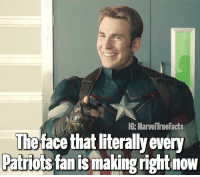 I was rooting for the Falcons but congrats to the Patriots on winning the SuperBowl. 🏈: IG: MarvelTrueFacts  The face that iterallyevery  Patriots fan is making rightnow I was rooting for the Falcons but congrats to the Patriots on winning the SuperBowl. 🏈