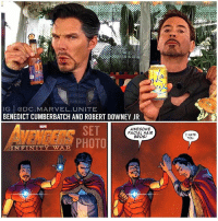 Who do you want to see TeamUp in Infinity War ? 🤔 If we get a scene like this in Avengers : InfinityWar ! 😍👏🏽 I can't wait to see how IronMan and DoctorStrange are going to interact ! Also, I Can't wait for more AvengersInfinityWar Set Photos, hopefully we'll get some Footage and New Images from SDCC2017 in July ! 😱🙌🏽 MarvelCinematicUniverse 💥 MCU: IG ODC. MARVEL UNITE  BENEDICT CUMBERBATCH AND ROBERT DOWNEY JR  SET  AWESOME  FACIAL HAIR  BROS!  INFINIT  I HATE Who do you want to see TeamUp in Infinity War ? 🤔 If we get a scene like this in Avengers : InfinityWar ! 😍👏🏽 I can't wait to see how IronMan and DoctorStrange are going to interact ! Also, I Can't wait for more AvengersInfinityWar Set Photos, hopefully we'll get some Footage and New Images from SDCC2017 in July ! 😱🙌🏽 MarvelCinematicUniverse 💥 MCU