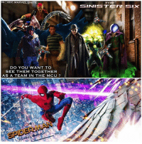 Comment Below if you'd like to see The SinisterSix TeamUp to Fight TomHolland's SpiderMan in a Future Spidey Movie in the MCU ! 🤔 Since we didn't get to see The Sinister6 actually TeamUp back when AndrewGarfield was PeterParker in TheAmazingSpiderMan 2…it would be cool for TheSinisterSix to get another shot at redemption ! 🙌🏽 It would be great if MichaelKeaton returned as TheVulture After SpiderManHomeComing and brought together the Team of Villains with DocOck, Mysterio, GreenGoblin, KravenTheHunter and Rhino or Electro ! 😱 it would be awesome to see The First Marvel Team of Villains in the MCU ! MarvelCinematicUniverse 💥 @OpsFx_: IG ODC.MARVEL.UNITE  THE  DO YOU WANT TO  SEE THEM TOGETHER  AS A TEAM IN THE MCU ? Comment Below if you'd like to see The SinisterSix TeamUp to Fight TomHolland's SpiderMan in a Future Spidey Movie in the MCU ! 🤔 Since we didn't get to see The Sinister6 actually TeamUp back when AndrewGarfield was PeterParker in TheAmazingSpiderMan 2…it would be cool for TheSinisterSix to get another shot at redemption ! 🙌🏽 It would be great if MichaelKeaton returned as TheVulture After SpiderManHomeComing and brought together the Team of Villains with DocOck, Mysterio, GreenGoblin, KravenTheHunter and Rhino or Electro ! 😱 it would be awesome to see The First Marvel Team of Villains in the MCU ! MarvelCinematicUniverse 💥 @OpsFx_