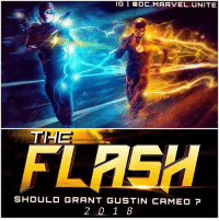 Memes, Marvel, and Movie: IG  ODC. MARVEL. UNITE  THE  SHOULD GRANT GUSTIN CAMEO  2 1 8 ⚡️ DCEU X DCTV ⚡️ - If GrantGustin had a Cameo in EzraMiller's Solo ' Flash' Movie…What should it be ? DCExtendedUniverse 💥 TheFlash ⚡️ Artist : @debaditya707