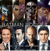 Batman, Joker, and Memes: IG OTHEBATBRAND  BATMAN ROGUES  EM DAFOE JON HAMM JASONSTATHAM ALFRED MOUNA  de -de  JOKER  O-FACEBLACK MASK This is just perfect. By @thebatbrand dc dccomics dceu dcu dcrebirth dcnation dcextendeduniverse batman superman manofsteel thedarkknight wonderwoman justiceleague cyborg aquaman martianmanhunter greenlantern theflash greenarrow suicidesquad thejoker harleyquinn catwoman