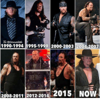 Memes, Wrestlemania, and Undertaker: IG: Othewwedank  1990-1994 1995-1999 2000-2003 2004-2007  2008-2011 2012-2014  2015 NO Reports in that next years WrestleMania will be Undertakers last 🙈