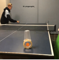 9gag, Memes, and 🤖: IG: pingpongkid. His ping pong skills are downright impressive By @thepingpongkid - 9gag pingpong trickshots