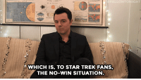 "Seth MacFarlane, Star Trek, and Target: IGHT  WHICH IS, TO STAR TREK FANS,  THE NO-WIN SITUATION <p><b>Web Exclusive:</b> <a href=""https://www.youtube.com/watch?v=khK4UBxbnVo"" target=""_blank"">Seth MacFarlane hung out backstage to play a game of ""Would You Rather"" and tell us why he wouldn't want to be trapped in space! </a></p>"
