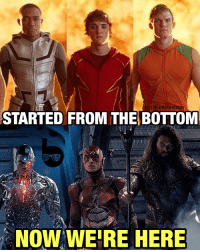 "Memes, Vision, and Suits: IGI BLERD VISION  STARTED FROM THE BOTTOM  NOW WERE HERE I'm always amazed by how far we've come artistically from the Smallville ""super-hoodie"" days. The design of these suits are so intricate and detailed... though I'm admittedly a little skeptical of Cyborg's CGI-looking body. 🤔 What do you think of the new JusticeLeague still, Super Friends?"