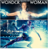 Birthday, Hype, and Memes: IGI@DC. MARUEL UNITE  WOMAN  WONDER  DAMN...SHE  ALMOST SAW ME.  TOTALLY WORTH IT THO. TheFlash's Cameo in WonderWoman has been Leaked ! 😂 EzraMiller you slick Pervert. Well…can't blame him, who else wouldn't use their Super Speed to Check out the Fine Goddess GalGadot. 😏 LET THE WonderWoman HYPE BEGIN…I can't wait for June 2nd…It's so close to my Birthday ! DCEU HYPE ! ⚡️ DCExtendedUniverse 💥 JusticeLeague