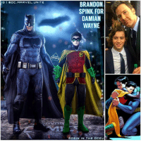 Batman, Future, and Love: IGI DC MARVEL UNITE  OMIC  BRANDON  SPINK FOR  DAMIAN  WAYNE  ROBIN IN THE OCEU I really hope we'll get a DamianWayne StoryLine in a Future Batman Sequel in The DCEU, but before that we should get TimDrake as Robin ! 🤔 I love the Father and Son Aspect in the New 52 ' BatmanAndRobin' Comic Series ! Just imagine BenAffleck's BruceWayne with a Son ! 😂 One of my FanCast's would be BrandonSpink, The Young Actor who Portrayed Young Bruce in BvS ! 🙌🏽 Comment Below what Members of The BatFamily you want to see in The DCFilms… NightWing and BatGirl are already confirmed for their own Movies…and I'm sure we'll be seeing RedHood ( JasonTodd) in TheBatman Movie in 2019 ! 🤷🏽♂️ DCExtendedUniverse 💥 DC