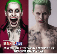 READ CAPTION!! What if i told that i actually support this ? Well as much as i hate Suicide Squad i still believe that the joker was horribly Misused and that Jared is a great actor and desrves another shot and mainly a better script , I'm not the biggest fan of the DCEU and how they handle their cinematic universe and how unorthodox it is but if they're actually gonna focus on solo films and they get some good dircetors with creative freedom and let them make their own movies then I'm down , we all love these characters and no one wants WB to give up on making DC films , yes they took some really bad directions and yes they let us down many times but still we need to stay positive and well like i said screw connecting the universe and focus on doing these characters Justice , i wanna watch a nightwing film and i don't give a crap if it's in the same universe with the snyder verse and i wanna watch a new gods film and also i don't care if it's connected and i wanna watch ton of other great characters on the big screen so yeah finger crossed. Blackpanther Mcu Marvel dc dccomics dceu dcu dcrebirth dcnation dcextendeduniverse batman superman manofsteel thedarkknight wonderwoman justiceleague cyborg aquaman martianmanhunter greenlantern venom spiderman infinitywar avengers avengersinfintywar ironman thanos: IGI SUPERHEROSF  BREAKING NEWS  JARED LETO TO STAR IN AND PRODUCE  HIS OWN KER MVIE READ CAPTION!! What if i told that i actually support this ? Well as much as i hate Suicide Squad i still believe that the joker was horribly Misused and that Jared is a great actor and desrves another shot and mainly a better script , I'm not the biggest fan of the DCEU and how they handle their cinematic universe and how unorthodox it is but if they're actually gonna focus on solo films and they get some good dircetors with creative freedom and let them make their own movies then I'm down , we all love these characters and no one wants WB to give up on making DC films , yes they too