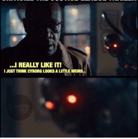 An accurate representation of how I feel about the internet. Ya'll out here acting like straight Parademons for Snyder. 😂 I'll say it again: I love DC, guys! I know it's crazy - but you CAN think something looks really cool while still having justifiable reservations and-or criticisms for it. Now let's see how long it takes for someone to call me a Marvel fanboy in the comments. Lol Triggered: IGIBLERD VISION  ...I REALLY LIKE IT!  I JUST THINK CYBORG LOOKS A LITTLE WEIRD... An accurate representation of how I feel about the internet. Ya'll out here acting like straight Parademons for Snyder. 😂 I'll say it again: I love DC, guys! I know it's crazy - but you CAN think something looks really cool while still having justifiable reservations and-or criticisms for it. Now let's see how long it takes for someone to call me a Marvel fanboy in the comments. Lol Triggered