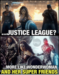 Memes, 🤖, and Super Friends: IGIBLERDVISION  JUSTICE LEAGUE?  MORE LIKEWONDERWOMAN  AND HER SUPER FRIENDS (Wonder)women rule. (Super)men drool. WhoRunsTheWorld? -- 🚨 And be sure to listen to the latest episode of BlerdVision [LINK IN BIO] for our DCTV reviews of the week, JusticeLeagueDark and more!