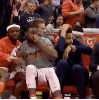 Memes, SportsCenter, and Wshh: iGYRA  AR  P. Even the Syracuse bench knew this one-handed alley-oop slam was dirty! 👀💯 @sportscenter WSHH