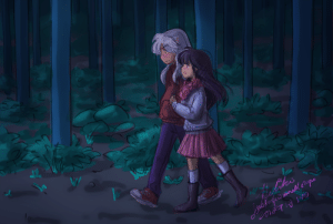 justafewsmallsteps:  For @paintingmelon! I was your Inuyasha Secret Santa this year! One of the prompts was for InuKag: warmth, forest, peace, and fresh. For me, they're walking through a forest huddled together as a couple, towards a Shrine for New Year's. The is Part 1 of 2! (told you I'd do both art and writing, ehehe) I think your art is so colorful and cute btw! Thanks for hosting @inusecretsanta ! : ihes  inafofe mall po justafewsmallsteps:  For @paintingmelon! I was your Inuyasha Secret Santa this year! One of the prompts was for InuKag: warmth, forest, peace, and fresh. For me, they're walking through a forest huddled together as a couple, towards a Shrine for New Year's. The is Part 1 of 2! (told you I'd do both art and writing, ehehe) I think your art is so colorful and cute btw! Thanks for hosting @inusecretsanta !