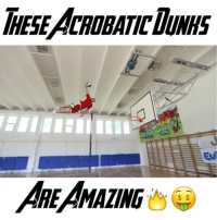 Dunk, Memes, and 🤖: IHESEACROBATIC DUNHS  ARE/MAZING FaceTeam are the 1 Acrobatic Dunk Team 😱💯 - Follow (ME) @cleanestclipz for more! 🔥