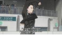 "Anime: Yuri on Ice  When someone tells you to describe yourself in one sentence and you want to highlight both your irresistible charm and your love for Japanese cuisine.  I love how this anime can deliver these sort of lines on one hand and a story about self-improvement and genuine human connection on the other, and neither of these really cancel each other out.  If you've been reading my opinion posts for the past few weeks then you probably know by now how dense with meaning this show is and how much there is to talk about, but let me try and mention just a few of the things I loved about ep 5.  Let me start once more by praising Mappa's commitment to animating the figure skating scenes. Yes, I know they reuse footage, I know that some of the moments look really wonky or unnatural or just silly or whatever, but what matters to me is that they care enough to actually feature them. We didn't NEED to see Minami skate to see Yuuri cheer on him. But this is a sports anime and they're gonna show us the figure skating, even if it's a bit half-baked. And you know what? Better a wonky animation then a ""slide-show"" from the performance, the way some anime prefer to handle these things. I also think they're trying to save some money for the bigger episodes. So far we've seen skating in literally every single episode and that deserves to be appreciated.  But alright, enough about the production values. Time to get into the story. And what do we get this time? So much good stuff. First of all I really appreciate that they showed Yuuri's nerves before his performance and his way of dealing with them by focusing on himself (and being a bit rude to Minami). Because yeah, Yuuri's definitely improved, but that doesn't mean he's not afraid to skate again, especially with all the focus on him. And sometimes stress will cause you to be unnecessarily cold to others and that's partly what we get here. (There's also the lovely subversion of this with the help of Victor and Yuuri realizing that he can compete and still be kind to his competition (and that even he can have fans!).)  Then there's also the fact that Yuuri decides to do all the quads in his performance despite Victor telling him to lower the level and focus on his performance. I really appreciate that because it shows that even if Yuuri really gains from Victor's help, he's not just passively made into Victor's ideal - he has autonomy over his choices, he can be assertive, he does the things he thinks are best. I think it was important to highlight that Yuuri isn't just a vessel for Victor's ideal, that he can stand up for himself, that he can do his own thing, even if it's far from perfect and still do well. The fact that Victor also accepted Yuuri's choice was great because it shows that he'll willing to respect Yuuri's decisions and the way he chooses his growth. He's really there to support him, not to sculpt him into what he thinks is perfect.  And shall I say that the speech at the end of the episode was simply stunning and I absolutely adored it and its implications. The entire episode just reminds me that Yuri on Ice really knows what it's doing and it's doing everything really well. As always, I'm excited for the next episode.  And as always, I apologize for the essay (and the funny thing is that this is just a fragment of my thoughts haha) and am looking forward to seeing your opinions in the comments. ^^  Admin Urushihara --- Anime of the Week Polls: https://goo.gl/VVPEil Character Polls: https://goo.gl/6Ivduk Soundtrack Polls: https://goo.gl/ITwd3G: Ihm a pork cutlet bowl  fatale that enthralls men Anime: Yuri on Ice  When someone tells you to describe yourself in one sentence and you want to highlight both your irresistible charm and your love for Japanese cuisine.  I love how this anime can deliver these sort of lines on one hand and a story about self-improvement and genuine human connection on the other, and neither of these really cancel each other out.  If you've been reading my opinion posts for the past few weeks then you probably know by now how dense with meaning this show is and how much there is to talk about, but let me try and mention just a few of the things I loved about ep 5.  Let me start once more by praising Mappa's commitment to animating the figure skating scenes. Yes, I know they reuse footage, I know that some of the moments look really wonky or unnatural or just silly or whatever, but what matters to me is that they care enough to actually feature them. We didn't NEED to see Minami skate to see Yuuri cheer on him. But this is a sports anime and they're gonna show us the figure skating, even if it's a bit half-baked. And you know what? Better a wonky animation then a ""slide-show"" from the performance, the way some anime prefer to handle these things. I also think they're trying to save some money for the bigger episodes. So far we've seen skating in literally every single episode and that deserves to be appreciated.  But alright, enough about the production values. Time to get into the story. And what do we get this time? So much good stuff. First of all I really appreciate that they showed Yuuri's nerves before his performance and his way of dealing with them by focusing on himself (and being a bit rude to Minami). Because yeah, Yuuri's definitely improved, but that doesn't mean he's not afraid to skate again, especially with all the focus on him. And sometimes stress will cause you to be unnecessarily cold to others and that's partly what we get here. (There's also the lovely subversion of this with the help of Victor and Yuuri realizing that he can compete and still be kind to his competition (and that even he can have fans!).)  Then there's also the fact that Yuuri decides to do all the quads in his performance despite Victor telling him to lower the level and focus on his performance. I really appreciate that because it shows that even if Yuuri really gains from Victor's help, he's not just passively made into Victor's ideal - he has autonomy over his choices, he can be assertive, he does the things he thinks are best. I think it was important to highlight that Yuuri isn't just a vessel for Victor's ideal, that he can stand up for himself, that he can do his own thing, even if it's far from perfect and still do well. The fact that Victor also accepted Yuuri's choice was great because it shows that he'll willing to respect Yuuri's decisions and the way he chooses his growth. He's really there to support him, not to sculpt him into what he thinks is perfect.  And shall I say that the speech at the end of the episode was simply stunning and I absolutely adored it and its implications. The entire episode just reminds me that Yuri on Ice really knows what it's doing and it's doing everything really well. As always, I'm excited for the next episode.  And as always, I apologize for the essay (and the funny thing is that this is just a fragment of my thoughts haha) and am looking forward to seeing your opinions in the comments. ^^  Admin Urushihara --- Anime of the Week Polls: https://goo.gl/VVPEil Character Polls: https://goo.gl/6Ivduk Soundtrack Polls: https://goo.gl/ITwd3G"