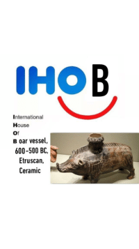 B: IHOB  International  House  Of  B oar vessel,  600-500 BC,  Etruscan,  Ceramic