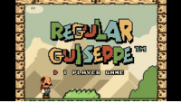 Nobody ever talks about Regular Guiseppe - The Third Mario Brother.: II  D 1 PLA VER GAME  TM Nobody ever talks about Regular Guiseppe - The Third Mario Brother.