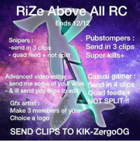 II RC Rize Ends 121 Pubstompers Snipers Send in 3 Clips