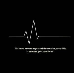Ups, Means, and You: Ii there are no ups and downs in your liie  it means you are dead.