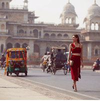 Style influencer Leila Yavari wears the ROMY pumps and carries the LOCKETT PETITE.   The world's most stylish influencers provide the ultimate getaway inspiration as they journey to Jaipur, India.   Visit Chooworld to discover their looks, all captured by photographer Candice Lake at http://bit.ly/GetawayEdit-India.: ii40 Style influencer Leila Yavari wears the ROMY pumps and carries the LOCKETT PETITE.   The world's most stylish influencers provide the ultimate getaway inspiration as they journey to Jaipur, India.   Visit Chooworld to discover their looks, all captured by photographer Candice Lake at http://bit.ly/GetawayEdit-India.