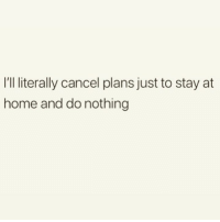 Memes, Girl, and Home: I'Il literally cancel plans just to stay at  home and do nothing Bliss 🙌🏼 Follow my girl @thespeckyblonde @thespeckyblonde @thespeckyblonde @thespeckyblonde
