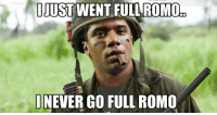 Russell Wilson be like...: IJUST WENT FULL ROMO  ONFL M  NEVER GO FULL ROMO Russell Wilson be like...