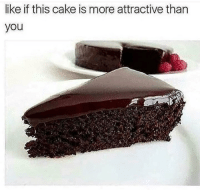Memes, Cake, and 🤖: ike if this cake is more attractive than  you I think I should name the page 8unattractive
