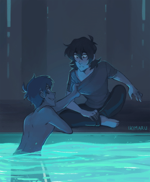 Fall, Target, and Tumblr: IKIMARU ikimaru:  kiss kiss fall into the pool (this was commissioned by Kellie for her fic 'Tether'!  💙)