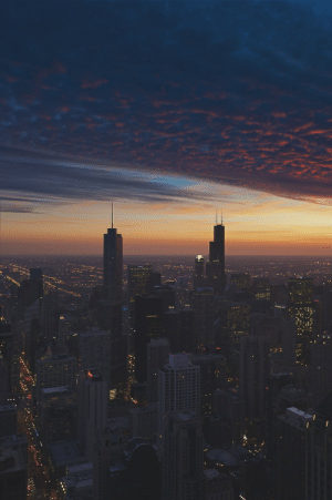 Chicago, Tumblr, and Blog: ikwt: Cloud Chicago - End of Days   (Peter Tsai) | ikwt
