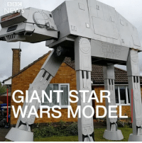 A man has built a giant Star Wars model in his front garden. The 20ft (6m) replica AT-AT (All Terrain Armoured Transport) first seen in The Empire Strike Back, was built by Ian Mockett at his home in Harpole, Northamptonshire. It took him and his friends a month to make it out of wood for the village's annual scarecrow festival. starwars @starwars theempirestrikesback atat scifi: Il  GIANT STAR  WAR A man has built a giant Star Wars model in his front garden. The 20ft (6m) replica AT-AT (All Terrain Armoured Transport) first seen in The Empire Strike Back, was built by Ian Mockett at his home in Harpole, Northamptonshire. It took him and his friends a month to make it out of wood for the village's annual scarecrow festival. starwars @starwars theempirestrikesback atat scifi