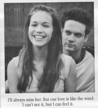 Love, Memes, and 🤖: I'll always miss her. But our love is like the wind  I can't see it, but I can feel it A Walk to Remember 💕 https://t.co/jWv99Z6UzC
