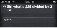 """Siri, Target, and Tumblr: Ill AT&T  10:19 PM  66 Siri what's 225 divided by 2  Math. <p><a href=""""http://tiffalmighty.com/post/82134466947/ok-thanks"""" class=""""tumblr_blog"""" target=""""_blank"""">worths</a>:</p><blockquote><p>ok thanks</p> </blockquote>"""