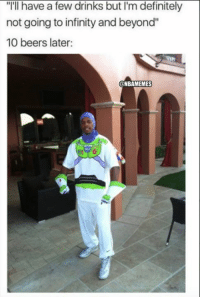 """Definitely, Nba, and Paul Pierce: """"I'll have a few drinks but I'm definitely  not going to infinity and beyond""""  10 beers later:  NBAMEMES Paul Pierce after he retires..."""