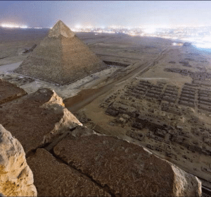 Taken, Top, and Pyramid: Illegal picture taken from the top of the Great Pyramid of Giza