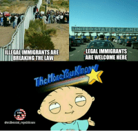 Know the difference Democrats 🇺🇸 . . 🇺🇸 ALL WATERMARKED MEMES ARE WRITTEN BY MILLENNIAL REPUBLICANS BUT WE DO NOT OWN THE PHOTOS WITHIN THE MEMES🇺🇸 MAGA millennialrepublicans donaldtrump mypresident merica ronaldreagan makeamericagreatagain liberallogic americafirst trumptrain triggered presidenttrump PARTNERS🇺🇸 @conservative_comedy_ @always.right @ny_conservative1776 @rebelrepublican @conservative.american: ILLEGALIMMIGRANTSARE  BREAKING THE LAW  The  MR  @millennial republicans  UNITED STATES OF AMER  LEGAL IMMIGRANTS  ARE WELCOME HERE Know the difference Democrats 🇺🇸 . . 🇺🇸 ALL WATERMARKED MEMES ARE WRITTEN BY MILLENNIAL REPUBLICANS BUT WE DO NOT OWN THE PHOTOS WITHIN THE MEMES🇺🇸 MAGA millennialrepublicans donaldtrump mypresident merica ronaldreagan makeamericagreatagain liberallogic americafirst trumptrain triggered presidenttrump PARTNERS🇺🇸 @conservative_comedy_ @always.right @ny_conservative1776 @rebelrepublican @conservative.american
