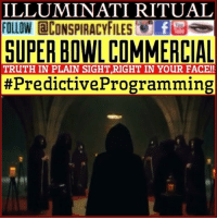 Facebook, Illuminati, and Memes: ILLUMINATI RITUAL  FOLLOW aCONSPIRACYFILES f  SUPER BOWLCOMMERCIAL  TRUTH IN PLAIN SIGHT,RIGHT IN YOUR FACE!!  #Predictive Programming Double tap and tag a friend! ViewPreviousPost WATCH FULL VIDEO ON FACEBOOK! (Link in bio) SUBSCRIBE ON YOUTUBE! @conspiracyfiles YouTube A new commercial (2017) Avacados from Mexico takes aim at the very notion of secret societies. The slick production uses humor to mock and ridicule the idea that secret societies exist, or could exist in this day and age. This is an attempt to manipulate the thoughts and opinions of the masses. The advertisment even introduces and incorporates subliminal messaging into the story line. Again, mocking the notion that people's behavior can be controlled through advertising and hidden messaging. (Comments your thoughts below👇🏼) ConspiracyFiles ConspiracyFiles2 CorporationSlayer NewWorldOrder IlluminatiRitual SubliminalMessages SubliminalMessage PredictiveProgramming SuperBowlCommercial TruthInPlainSight UncleSam UncleScam Rothschild SatanicIndustry WakeUpSheeple WakeUp Sheeple PopulationControl Depopulate PopulationReduction Illuminati Rothschild ConspiracyFact Conspiracy ConspiracyTheory ConspiracyTheories ConspiracyFiles Follow back up page! @conspiracyfiles2 Follow @uniformedthugs Follow @celebrityfactual Follow @zerochiills