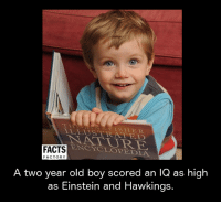 illustrate: ILLUSTRATE D  R.  ENCYCLOPEDIA  FACTS  FACTORY  A two year old boy scored an IQ as high  as Einstein and Hawkings.