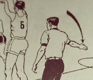 Illustration from a basketball referee manual: Illustration from a basketball referee manual
