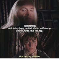 QOTD: what's your favorite wizarding family?: @iloveharrypotter9  Well, let us hope that Mr. Potter will always  be around to save the day.  Don't worry will be. QOTD: what's your favorite wizarding family?