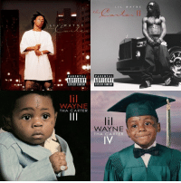 Parental Advisory, Today, and Content: ILWAY N E  WAYNE  PARENTAL  PARENTAL  ADVISORY ADVISORY  EIPLICIT CONTENT  EIPLICIT CONTENT  WAYNE  THA CARTER  WAYNE  IV  THA CARTER #HappyBirthday goes out to #LilWayne! He turned 36 today! Comment your favorite song or album of his below! 👇🎂🎈