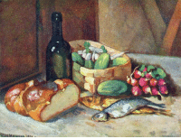 Life, Tumblr, and Blog: ilya-mashkov:Breakfast (still life) by Ilya Mashkov