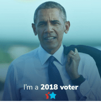 Memes, World, and 🤖: I'm a 2018 voter Americans are turning out to vote in HISTORIC numbers. Show the world you're one of them. 💪💪🏾💪🏿