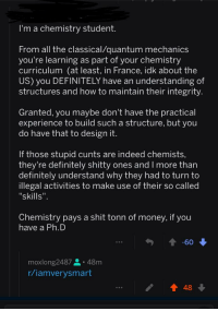 I'm a Chemistry Student From All the Classicalquantum